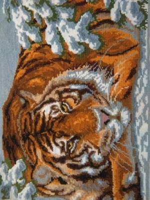 Рисунок на канве 37х49см Амурский тигр