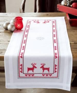 Набор для вышивания Дорожка Красные северные олени