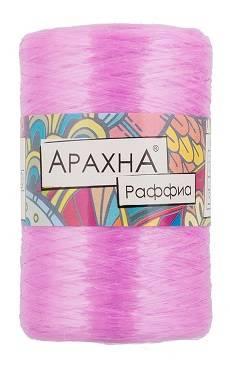 Пряжа Arachna Raffia, 50г, цвет Тем. розовый