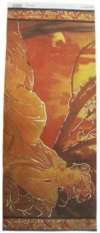 Бумага рисовая Stamperia с контурн.золочением, 24х60см