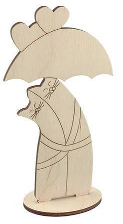Заготовка Коты-обнимашки под зонтом