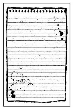 Штамп на резиновой основе HD 7х11см, Лист для записей