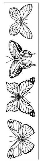 Штамп на резиновой основе HD 4х18см, Бабочки