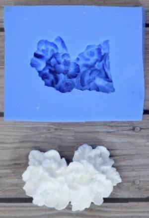 Молд силиконовый 1,5х1,5см, Гортензия