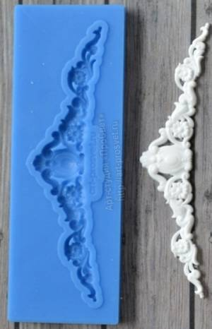 Молд силиконовый Диадема 2 малая, 7х1,6см