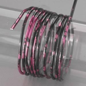 Проволока алюминиевая, двухцветная, цвет Черный, фуксия