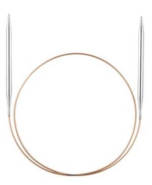 Спицы круговые, супергладкие, никель, №8, 60 см.