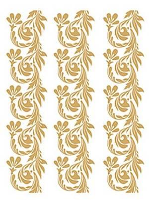 Трансфер-натирка 17х25см, цвет Золото