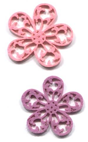Цветок из фетра, цвет Розовый (арт.  RTO-FTD-060)