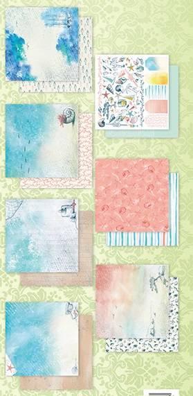 Набор бумаги для скрапбукинга, 30,5х30,5см, 7л, коллекция Лазурные берега
