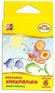 Карандаши восковые Кроха, 6 цветов