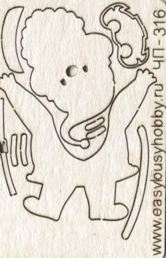 Чипборд-мини, серия Надписи, Дед мороз