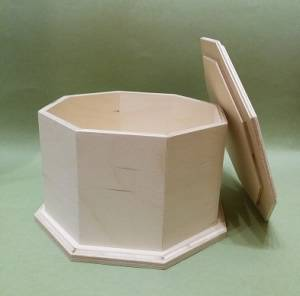 Короб восьмигранный с фрезой, 20х20х12см