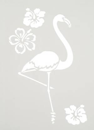 Трафарет 21х27см, Фламинго и цветы