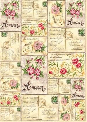Войлочное полотно с напечатанным рисунком, Любовное письмо