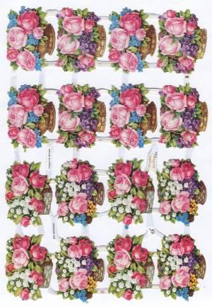 Аппликации Корзина с цветами