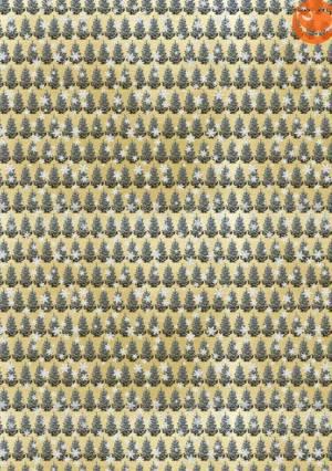 Декупажная карта А4 Пушистые ёлочки