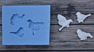 Молд Набор маленьких птичек