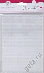 Прозрачный блок для штампов, 12,7х17,8 см