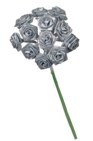 Цветочки из ткани, цвет Серый