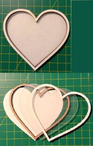 Шейкер для декора 7,5х8 см, Сердце