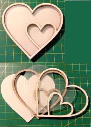 Шейкер для декора 7,5х8см, Сердце двойное