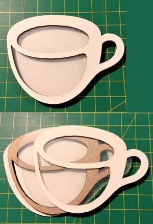 Шейкер для декора 6,5х8 см, Чашка