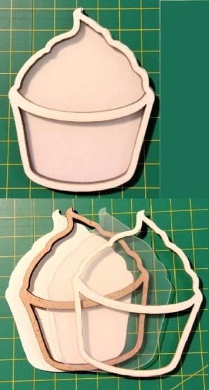 Шейкер для декора 8х6,4 см, Пирожное