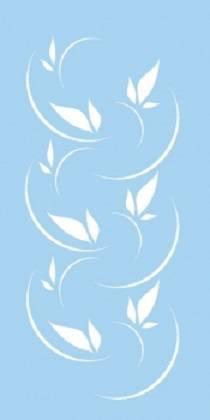Трафарет Листья на ветру, 15х30 см