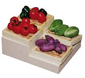 Декоративные элементы Мини овощи, 4шт.