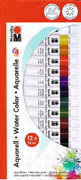 Набор акриловых красок Marabu-Acryl 12 цветов по 12 мл