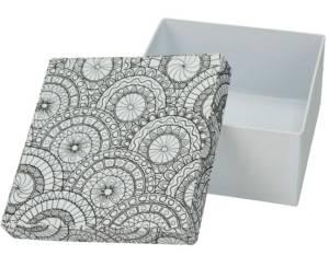 Коробка раскраска-антистресс квадратная
