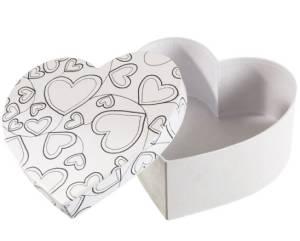 Коробка раскраска-антистресс сердце