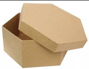 Заготовка из картона, коробочка шестиугольная, 14,5х7,6см