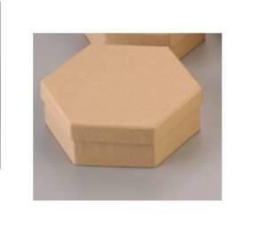Заготовка из картона, коробочка шестиугольная, 5,5 см