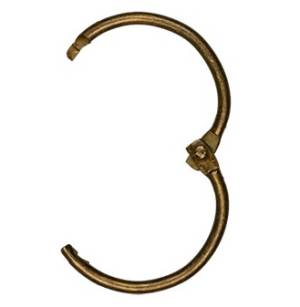 Кольцо металлическое разъёмное, 45мм, цвет Античная бронза