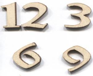 Комплект арабских цифр для часов 12 3 6