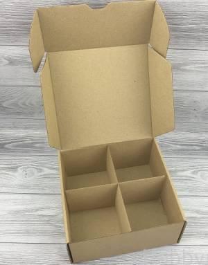 Упаковочная коробка T7.1 крафт, 19х19х9 см