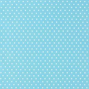 Фетр декоративный с рисунком в горошек, 30х45см, цвет Голубой