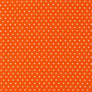 Фетр декоративный с рисунком в горошек, 30х45см, цвет Тёмно-оранжевый