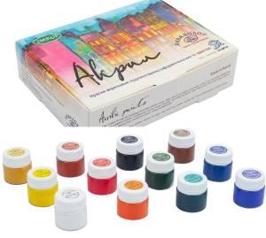 Набор акриловых красок Акрил АК, 12 цветов