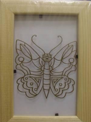 Витраж-раскраска Бабочка АК