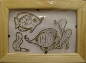 Витраж-раскраска Две рыбки АК