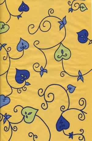 Бумага DECOPATCH Листики на желтом