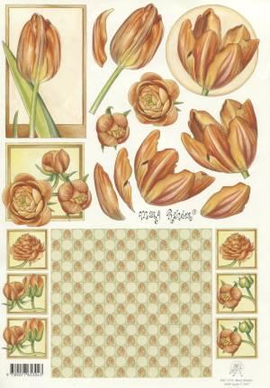 Карта серии Цветы Marij Rahder №6