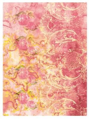 Рисовая бумага Calambour DGR Розовый фон/орнамент