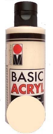 Краска акрил.  Marabu-Basic Acryl, 80 мл, цвет Телесный