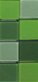 Мозаика акриловая, прозрачная, 1х1 см, 50г, цвет Оттенки зеленого